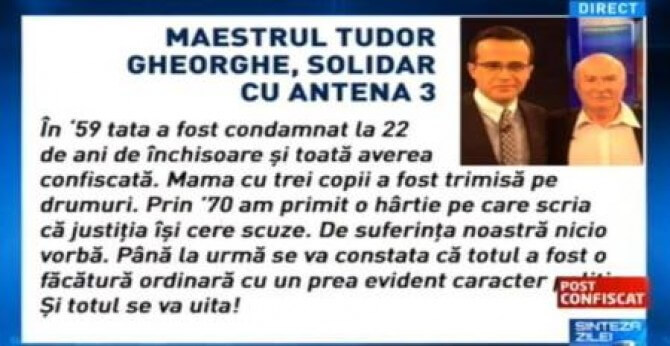 tudor gheorghe solidar cu antena3 - 2